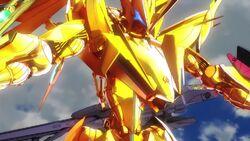 Cross Ange ep 11 Enryugo turns gold.jpg