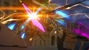 Cross Ange ep 23 Glaive Rosalie battles Theodra Extended Version
