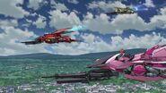 Cross Ange ep 21 Arquebus Hilda, Glaive Rosalie and Razor Flight Mode