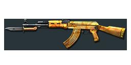 AK47-Knife Yellow Crystal TC