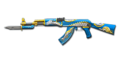 AK-47 Knife Blue Silver Dragon
