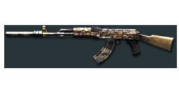 AK47-S Rusty Gold Skull
