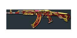 AK47-B Gold Dragon Red