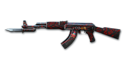 AK47-Knife Red Spider Web