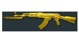 AK47-Knife Yellow Crystal