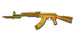 AK47-Knife Dual Mag Ultimate Gold