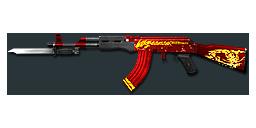 AK47-Knife Red Dragon
