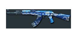 AK47-Blue Silver Dragon