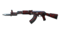 AK-47 Knife Red Spider Web 10th