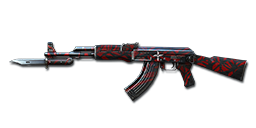 AK47-Knife Red Spider Web 10th Anniversary