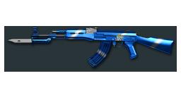 AK47-Knife Platinum Blue