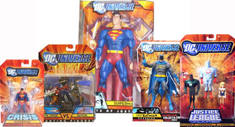 2008 DC UNIVERSE CRISIS BATMAN SUPERMAN PRIME SUPERGIRL MONITOR ACTION FIGURE
