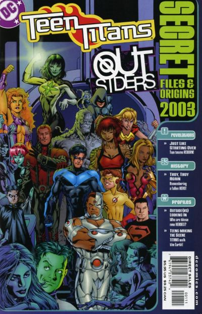 Teen Titans/Outsiders Secret Files and Origins/Covers