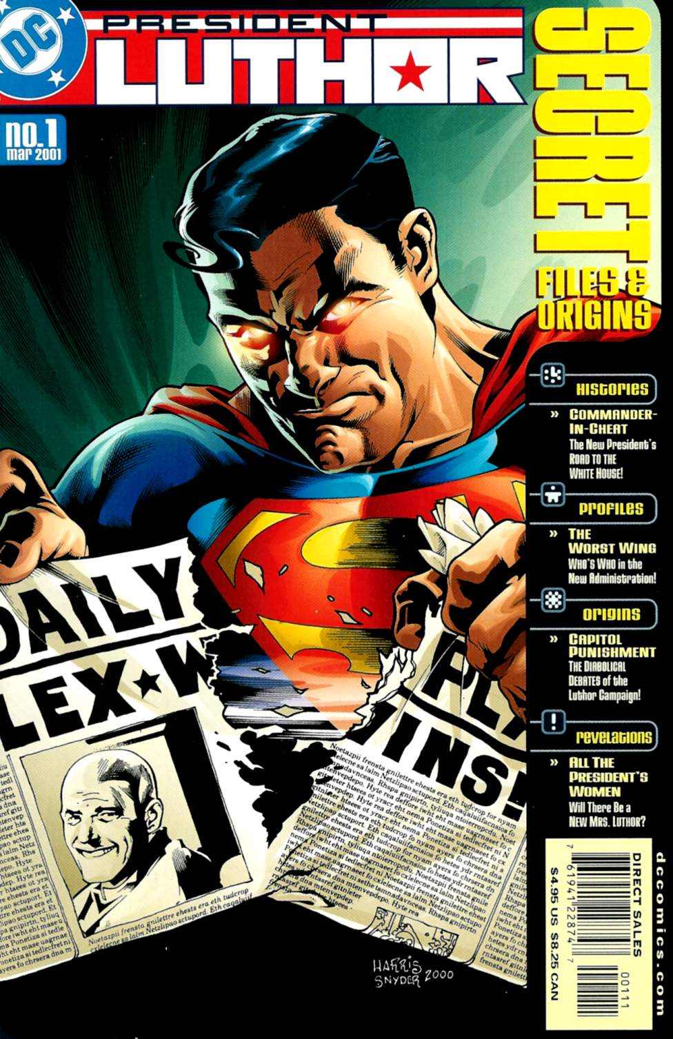 President Luthor Secret Files and Origins Vol 1 1