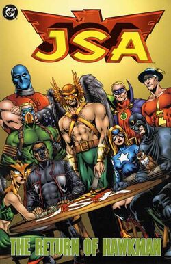 Cover for the JSA: The Return of Hawkman Trade Paperback