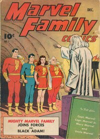 Uncle Marvel on the cover of Marvel Family #1