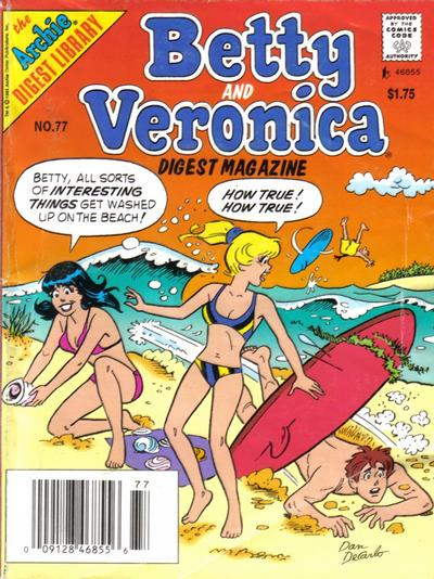 Betty and Veronica Digest Magazine Vol 1 77
