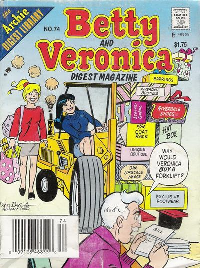Betty and Veronica Digest Magazine Vol 1 74