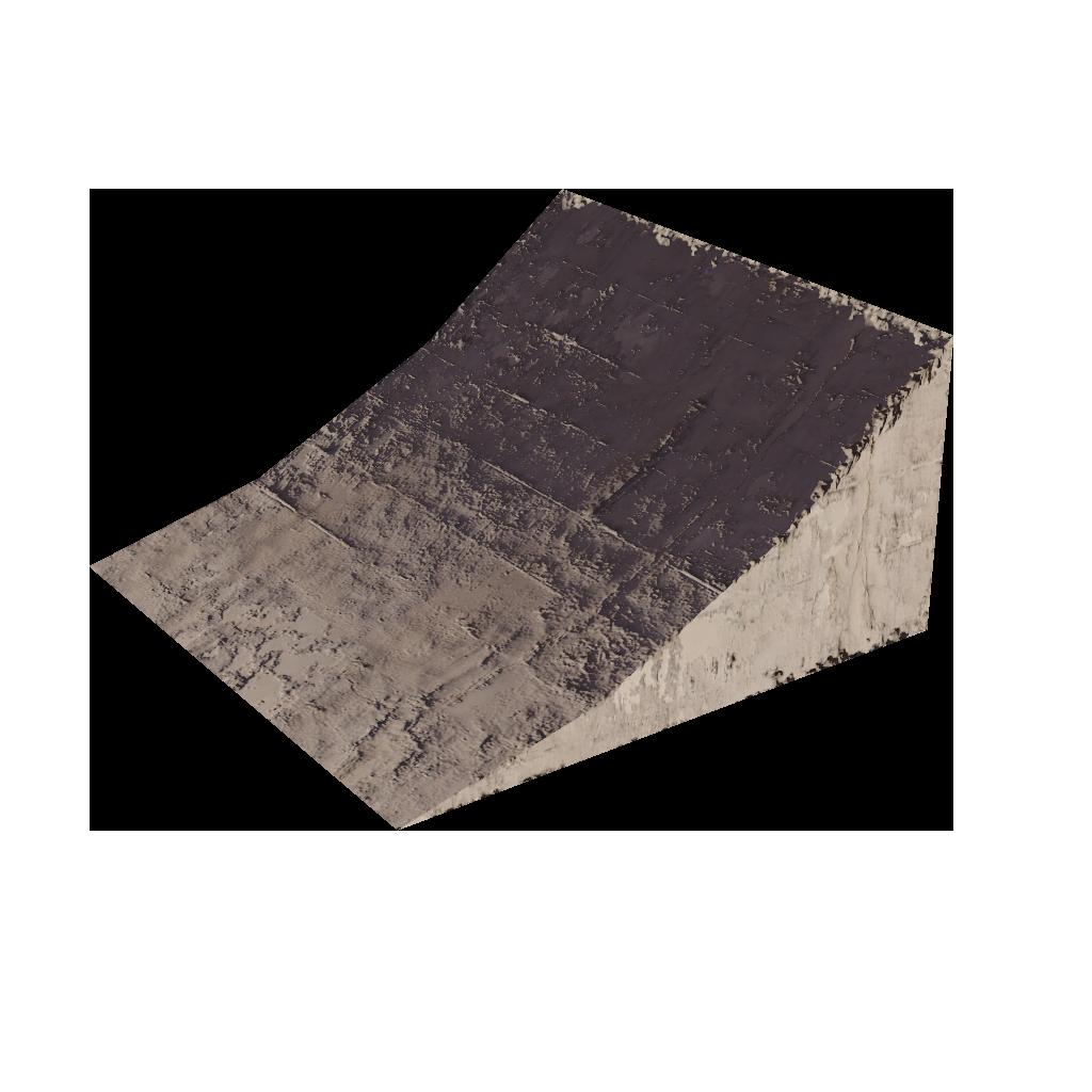 Вогнутая бетонная рампа 6*6*3