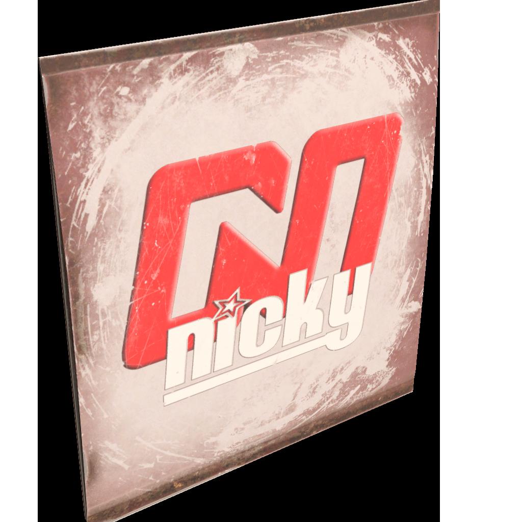 Nicky TV Sign
