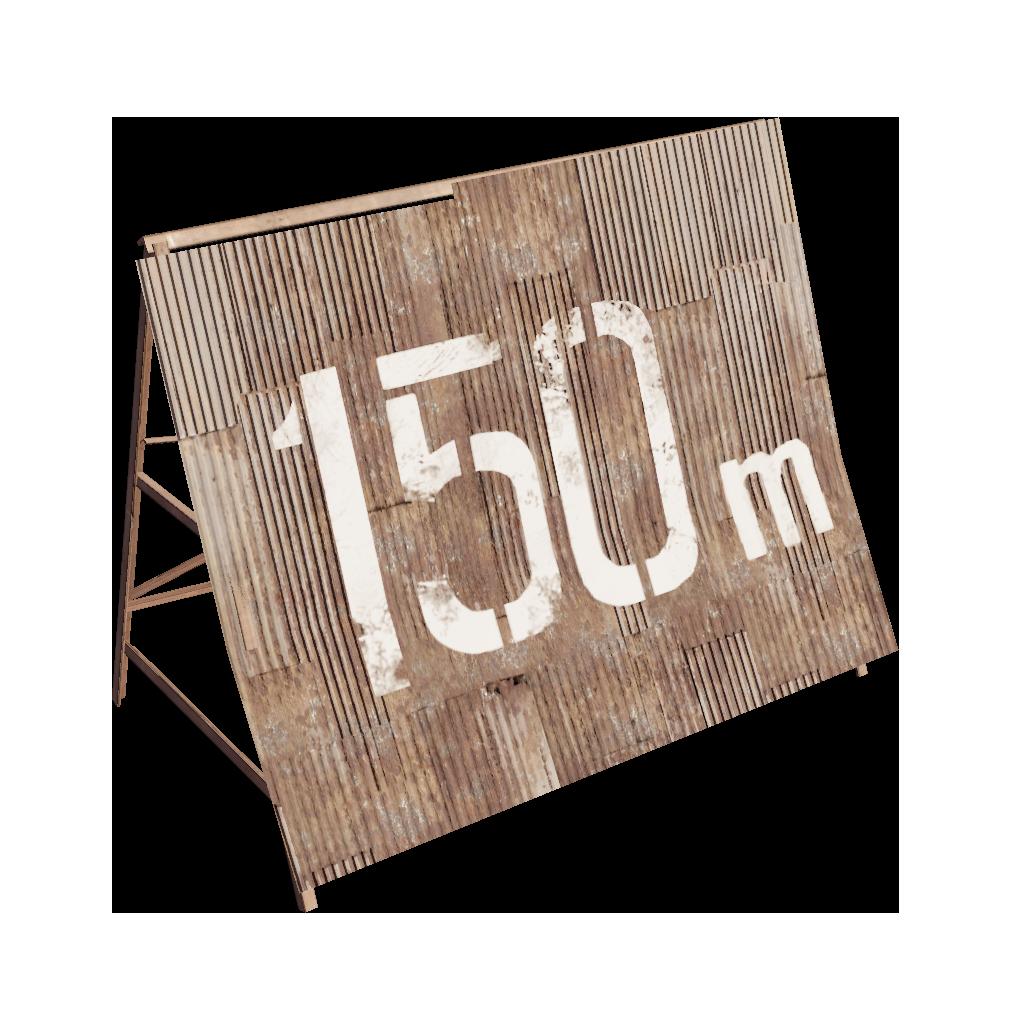 Ржавая отметка 150 м