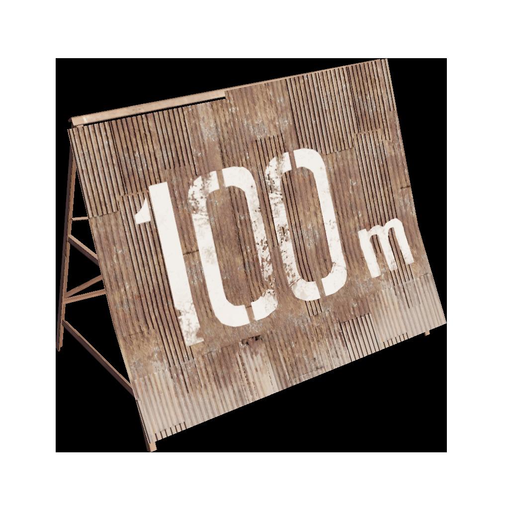 Ржавая отметка 100 м