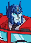 Optimus Prime Cyberverse Action Portrait