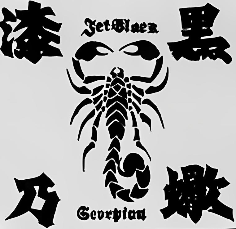 Jet Black Scorpion