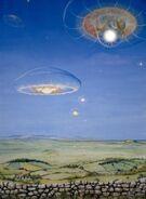 Sky medusae, Cosmic Leap - Philippa Foster