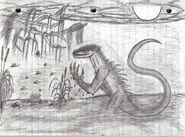 Lizard man of scape ore swamp by straightupraver-d4hiu83