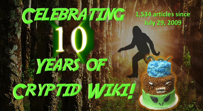 Australopithecusman/10 Years of Cryptid Wiki!