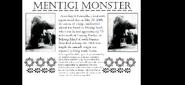Mentigi monster