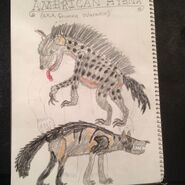 Cryptid sketch american hyena aka shunka warakin by strikerprime-d8cvqg5
