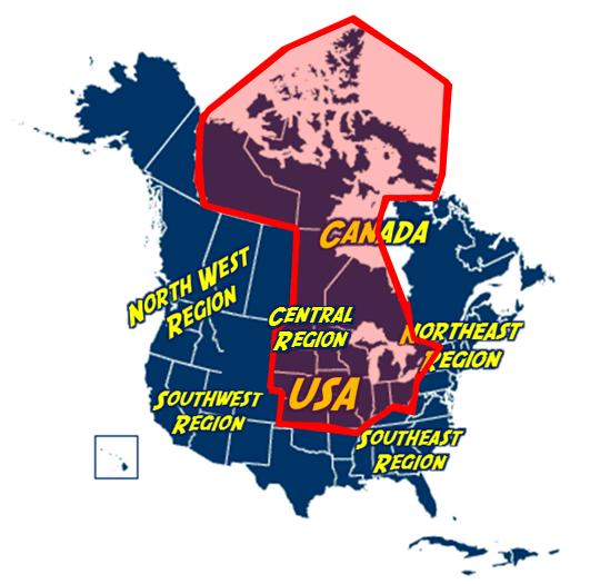 Central Region of North America