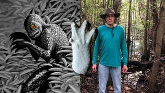 Swamp_Cryptids_Moss_Man,_Skunk_Ape_and_Lizard_Man_of_Scape_Ore_Swamp-2