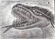 Lizard man of scape ore swamp jaws teeth tongue by straightupraver-d4hixbe