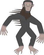 Spiny backed chimpanzee by daizua123-daje9xy