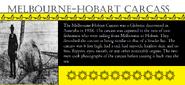 Melbourne-Hobart Carcass