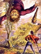 Ogre - JACK AND THE BEANSTALK in a book illustration from 1871.