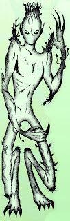 Vegetable-man alien, John A Short in Alien Encounters, August 1997.jpg