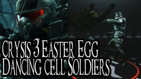 Crysis 3 Easter Egg - Dancing Cell Soldiers in Nanosuit Showroom-0