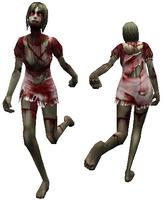 Female zombie model