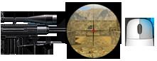 2× exclusive sniper scope