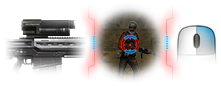 Lock-on 2x sniper scope