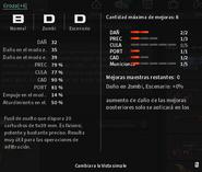 Weapon damage info