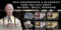 Skull balrog blueprint poster sgp