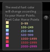 Color medal