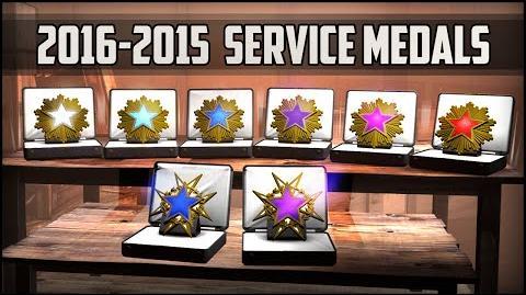 CSGO- 2016-2015 Service medals (Interactive Video)