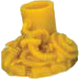 Brain Cylinder Figure - Yellow Sign