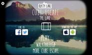 The lake title screen